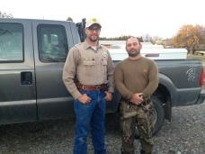 Local Game Warden near Columbus, MT, who helped us with the diseased mule deer.